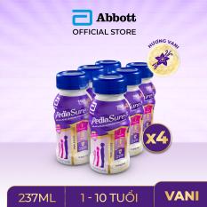 [GIẢM 30K CHO ĐƠN 1TR] Thùng 24 chai sữa nước Pediasure Vanilla 237ml Dành cho trẻ biếng ăn từ 2 đến 10 tuổi Bổ sung dinh dưỡng Tăng cường hệ miễn Dịch Hương vị thơm ngon