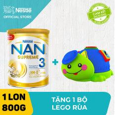 Sản phẩm dinh dưỡng công thức Nestle NAN SUPREME 3 cho trẻ từ 2-6 tuổi 800g + Tặng 1 bộ lego rùa