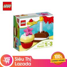 [Voucher freeship 30k]- [Siêu thị Lazada] Đồ chơi lắp ráp Lego Bánh Kem Đầu Tiên, Chất Liệu Nhựa ABS An Toàn, Phù Hợp Độ Tuổi 2-5