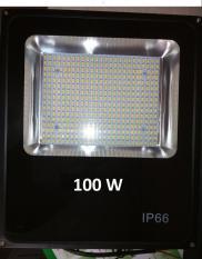 Đèn Led Pha 100W IP66 Ngoài Trời, Siêu Mỏng BH 1 Năm (Ánh Sáng Vàng)