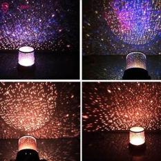 Đèn ngủ hình trụ xoay chiếu ngàn sao ngân hà lấp lánh căn phòng ban đêm