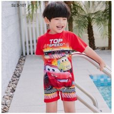 Đồ bơi bé trai liền quần hình xe Mc Queen 12-27kg -tạo cảm giác tự tin-thoải mái- dễ chịu cho bé trong mọi hoạt động- Red Ant Kids