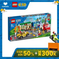 LEGO CITY 60306 Khu Phố Mua Sắm ( 533 Chi tiết) Bộ gạch đồ chơi lắp ráp cho trẻ em sáng tạo
