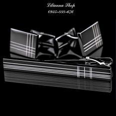 Bộ măng séc và kẹp cà vạt cravat