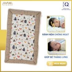 [QUÀ 120K] Nệm Trẻ Em Chần Bông Khang Home BabySafety An Toàn Giấc Ngủ Cho Bé Sơ Sinh Size 65x105cm