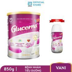Bộ 1 lon sữa bột Glucerna Hương Vani 850g dành cho bệnh nhân tiểu đường + 1 chai sữa nước Glucerna hương Vani 220ml