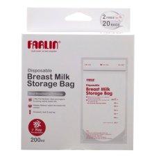 """"""" [QUÀ TẶNG KHÔNG BÁN]-Bộ túi vô trùng trữ sữa Farlin 200ml (BF869)"""