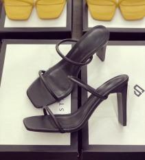 Giày cao gót nữ 8p dây mảnh tròn sành điệu 2020