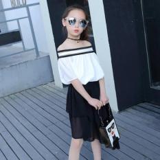 Set đầm kiểu áo trẽ vai cho bé từ 16 tới 45 kg