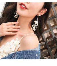 Bông tai bạc S925 phong cách Hàn Quốc hàng đẹp hơn hình ( mẫu chùm ngọc trai)