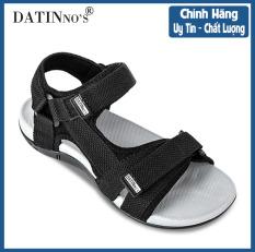 Giày Sandal Nam Quai Ngang, Dép Sandal Nam Đi Học Cao Cấp DATINNOS (Đen Xanh Xám) – SDDN105
