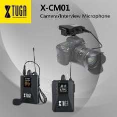 Micro không dây Xtuga X-CM01 UHF cài ve áo micro với 16 kênh hai cáp cáp 3.5mm 164ft dùng cho máy ảnh DSLR/DV máy quay phim máy ghi âm – INTL