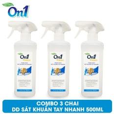 COMBO 3 Chai Dung Dịch Sát Khuẩn Tay Nhanh On1 Protect Hương BamBoo Charcoal (3 Chai x 500ml) C0202 (Mẫu mới 2021)
