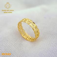 Nhẫn Kim Tiền Nam Nữ Bản To Titan Xi Mạ Vàng Non 10k, 18k, 24k Thật Cao Cấp (Không Bị Xỉn Đen) – Trang Sức Hava Hong Kong