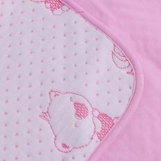 Tấm lót chống thấm 4 lớp cho bé ( Tặng 02 móc chịu lực ) Màu hồng