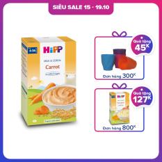 [QUÀ TẶNG HOT] Bột sữa ăn dặm dinh dưỡng rau củ – Cà rốt HiPP Organic Milk and Cereal 250g
