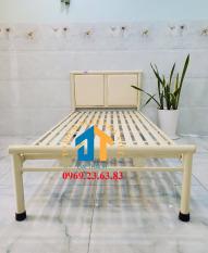 Giường sắt kích thước ngang từ 0,8M đến 1m8 dài 2M – GS30 mẫu đơn giản, tiện dụng, dễ dàng tháo ráp di chuyển.