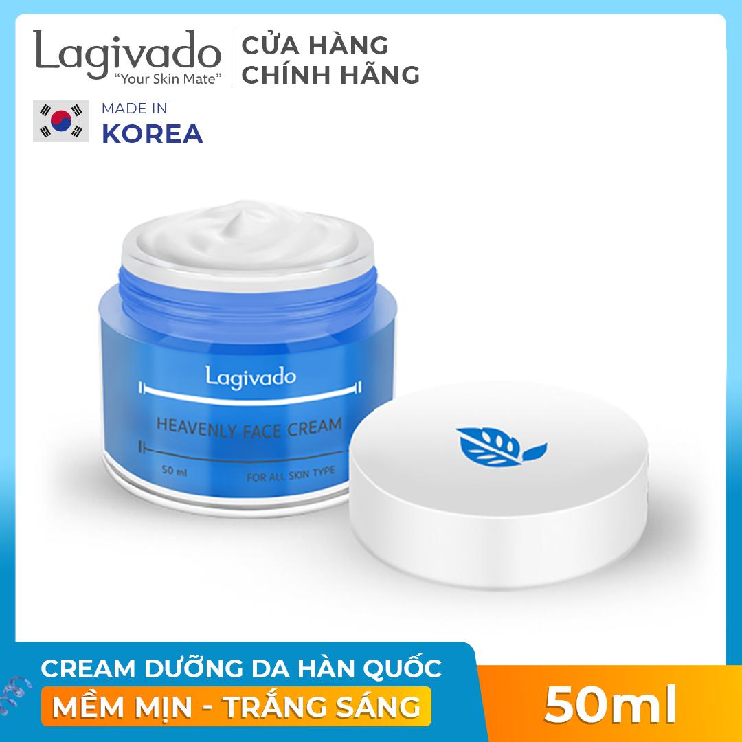 [ ĐƠN 299K TẶNG 1 SON KEM LÌ 250K ]Kem Dưỡng ẩm trắng sáng da mặt Hàn Quốc Lagivado Heavenly Face Cream 50 ml