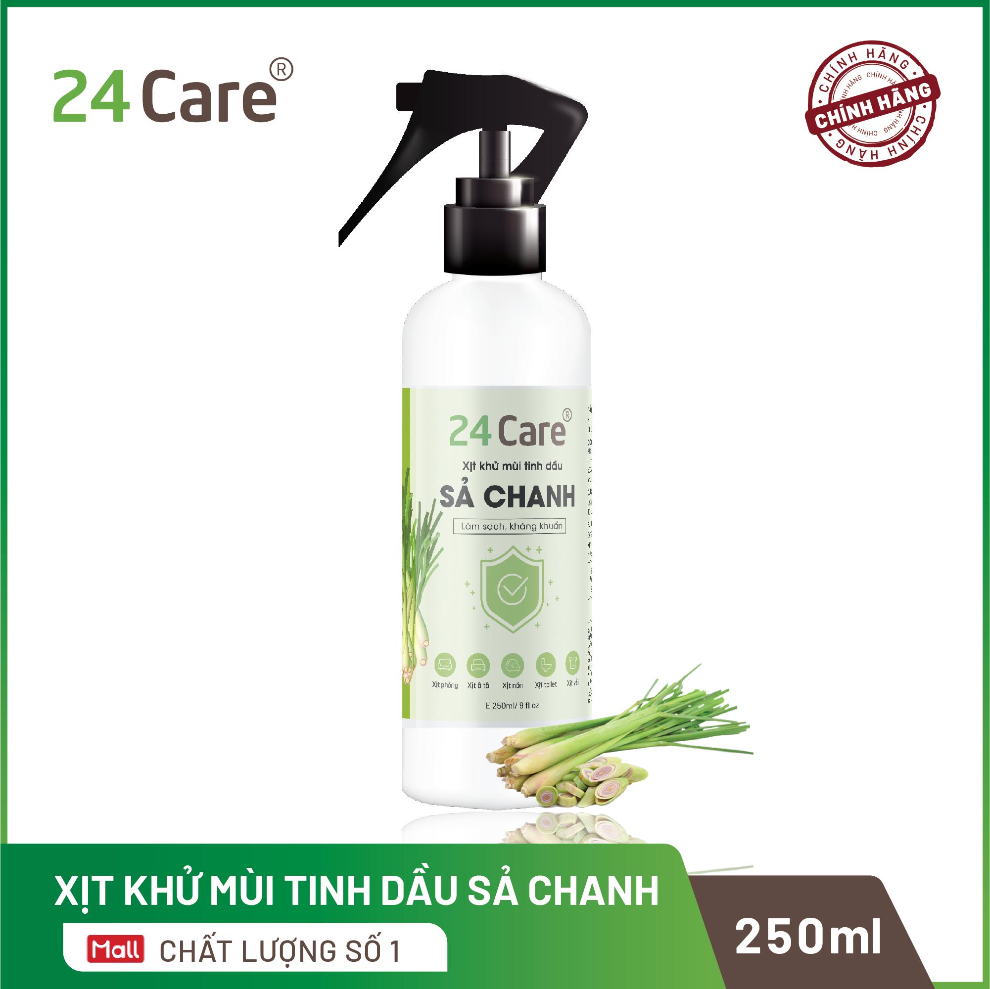 [Tự chọn 9 mùi] Xịt Phòng Tinh Dầu Hữu Cơ Organic 24Care 250ML – Kháng khuẩn – Khử mùi hôi – Đuổi muỗi, kiến ba khoan,Vắt – côn trùng – Hương thơm thư giãn