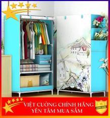 ( CHỌN MÀU ) Tủ vải quần áo 3D đẹp với tủ vải khung inox đựng quần áo chắc chắn, bền,nhỏ gọn vô cùng tiện lợi , tủ đựng quần áo cao cấp