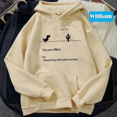 Áo hoodie nam nữ nỉ ngoại in hình rớt mạng, chất nỉ bôn dày dặn, nón 2 lớp, thích hợp làm áo cặp William – DS65