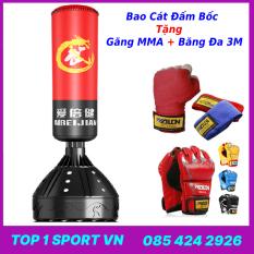 Bao Cát Trụ Đấm Bốc Thế Hệ Mới – Bao trụ đấm bốc boxing Aibeijiansport® Tặng Găng MMA + Băng Đa -Thiết bị tập luyện boxing, mma, trainning chuyên nghiệp
