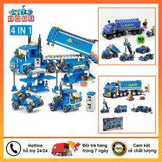 Đồ chơi lego, Lego xe cứu hỏa 206 chi tiết đồ chơi cho bé. chất liệu nhựa ABS an toàn cho bé