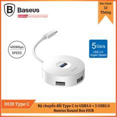 Bộ HUB chuyển đổi Type C sang USB 3.0 Baseus Round Box HUB (4 cổng USB, hỗ trợ ổ đĩa)