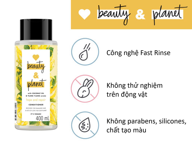 Dầu Xả Cho Tóc Hư Tổn Love beauty & Planet 400ml Bonita Beauty