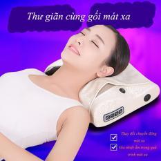 Gối massage vai gáy, gối massage gia dụng đa chức năng, massage vai gáy toàn thân