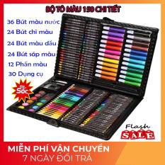 [HÀNG NHẬP] Bộ Bút Màu 150 Chi Tiết, Hộp Màu Vẽ Đa Năng, Chất Liệu An Toàn, Không Độc Hại, Món Quà Cho Bé Yêu