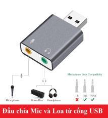 Đầu chia Mic và Loa từ cổng USB