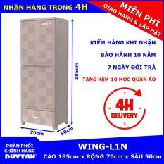 Tủ nhựa Duy Tân treo quần áo WING-L1N – tặng kèm 10 móc quần áo Duy Tân