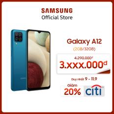 [SIÊU SALE 9-11.9] Điện thoại Samsung Galaxy A12 (4GB/128GB) – Cụm 4 camera 48MP – Pin trâu 5.000mAH – Sạc nhanh 15W – Miễn phí vận chuyển – Trả góp 0% – Bảo hành chính hãng 12 tháng