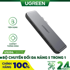 Bộ chuyển đổi 5 trong 1 mở rộng thêm 2 cổng USB-C 3.1, 3 cổng USB 3.0 cho Macbook UGREEN CM206 50775
