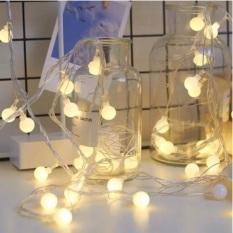 [Sài Pin] Đèn LED Trang Trí Bóng Tròn Cherry Ball Sử Dụng 3 Pin AA dùng Trang Trí Phòng ngủ, Phòng khách, ngoài trời, Nhà Cửa, Noel, Lễ Tết | Kyto Shop