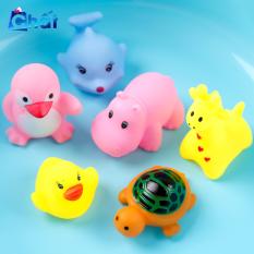 Bộ đồ chơi nhà tắm phát tiếng kêu 6 món cho bé, đồ chơi nhựa cao cấp an toàn không độc hại, đồ chơi khi tắm cho bé, đồ chơi chút chít âm thanh vui tai, đồ chơi thả bồn tắm ngộ nghĩnh