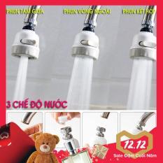 Đầu vòi rửa chén bát tăng áp, điều hướng xoay 360 độ, 3 chế độ, tiết kiệm nước, phù hợp với nhiều loại vòi