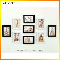 Bộ 9 khung ảnh 13×18 treo tường giá rẻ (9B6)