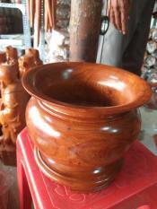 Bát nhang gỗ hương ngang 18cm cao 16cm