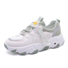 Giày thể thao nữ F5 có 3 màu trắng đen, xám, xanh, chất da phối lưới cao cấp, đế độn cao 5 cm tôn dáng, phong cách hàn quốc dễ phối đồ