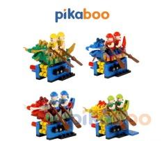 Đồ chơi Xếp hình Đua thuyền Rồng Pikaboo, Bộ lắp ráp 126-133 miếng ghép, chất liệu nhựa dày khỏe, bền bóng, an toàn