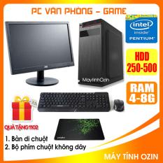 Bộ case máy tính văn phòng CPU Dual core E7-8xxx / G2010 Ram 4GB / HDD 250GB-500GB / SSD 120GB-240GB + Màn hình + [QUÀ TẶNG: Bộ phím chuột không dây, bàn di] – OZ