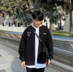 (FREESHIP TOÀN QUỐC) – SIÊU PHẨM – Áo Khoác Cardigan NAM NỮ TIM, Sweater, Jacket Uncover Nữ Nam Chất Thun Nỉ Ngoại Fool's Game Form Rộng Nút Cài Unisex