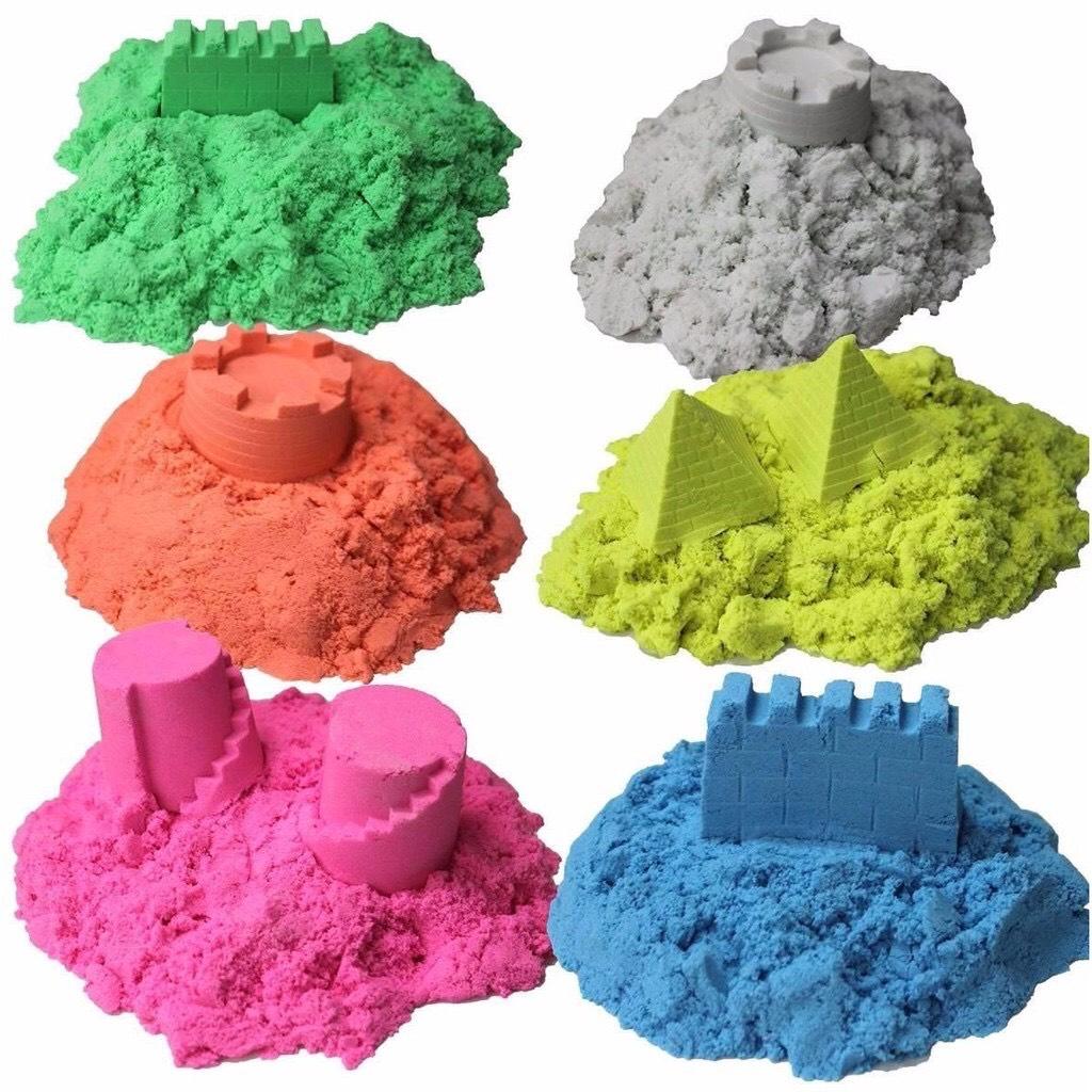 [Chọn màu] 1kg Cát động lực - Cát vi sinh - Cát dẻo ít dính tay không ra màu -...