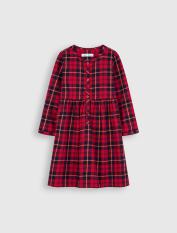 Váy bé gái CANIFA chất liệu cotton USA họa tiết caro thời trang – 1DS20W018
