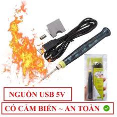 Mỏ hàn nhiệt Mini 400 độ dùng nguồn USB 5V-8W siêu tiện dụng + Tặng cuộn thiếc nhỏ