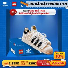 [ƯU ĐÃI ĐẶT TRƯỚC 1-7/9] LEGO ADULT 10282 Giày Thể Thao Adidas Originals Superstar (731 chi tiết) – Chỉ áp dụng trên App