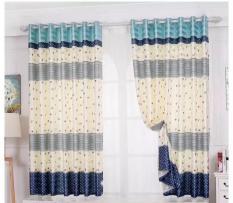 Rèm treo cửa sọc xanh chiều cao 2m (nhiều kích thước)