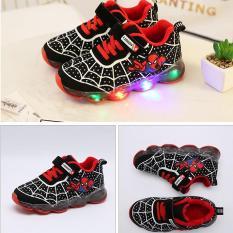 Giày thể thao người nhện spiderman có đèn cho bé trai
